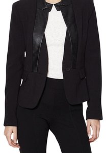 Walter Bailey Ponte Blazer with Faux Leather Combo Blazer