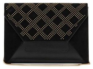 Reiss Leather Party Black Clutch