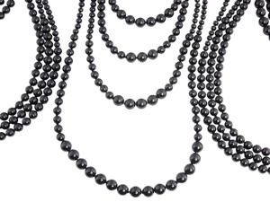 Chanel Black Beaded Multi-Strand Necklace