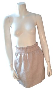 J.Crew Linen Mini Skirt Beige