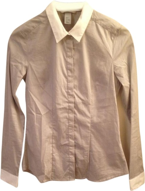 H&M Flash Sale Button Down Shirt Grey White