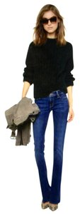 Mother The Runway Sexy Classic Flattering Flare Leg Jeans-Dark Rinse