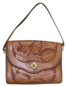 Hand Tooled Brown Clutch