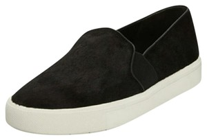 Vince Leather Sneaker Slip On Black Athletic
