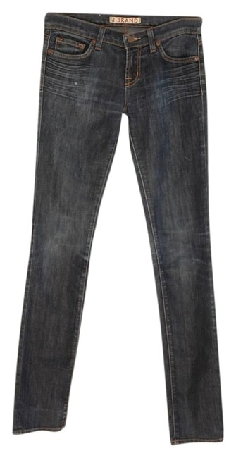 Preload https://img-static.tradesy.com/item/19748314/j-brand-blue-dark-rinse-pencil-leg-skinny-jeans-size-26-2-xs-0-2-650-650.jpg