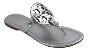Tory Burch Millers Silver Flats