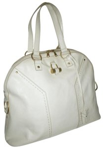 990f32601e3 Saint Laurent Muse - Yves Xlg Ivory Leather Satchel - Tradesy