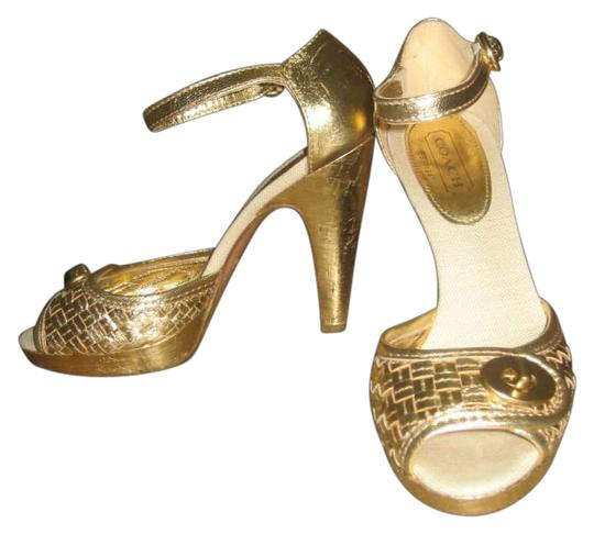Coach Gold Platforms