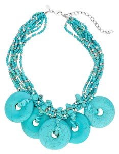 Chico's Aileen Turquoise Bib Necklace by Chico's