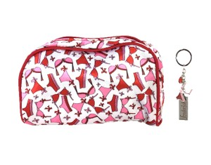Frederick's of Hollywood Flirty Lingerie Print Cosmetic Bag & Keychain