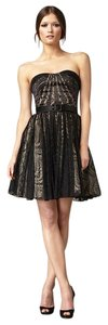 Aidan Mattox Belt Strapless Full Skirt Dress