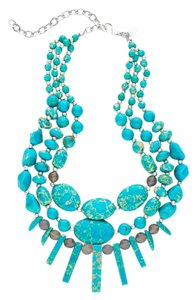 Chico's 2 PIECE SET: Turquoise Multi Strand Necklace & Earrings Chico's NWT.