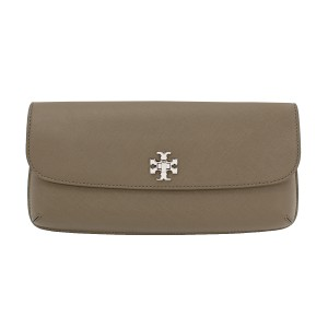 Tory Burch Saffiano Leather Porcini Clutch