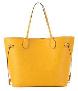 Louis Vuitton Lv.k0825.08 Yellow Mm Leather Tote
