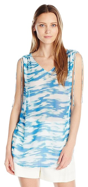 Preload https://img-static.tradesy.com/item/19748781/vince-camuto-blue-and-white-two-by-women-s-sl-light-sketches-shldr-tie-v-neck-tank-topcami-size-16-x-0-1-650-650.jpg
