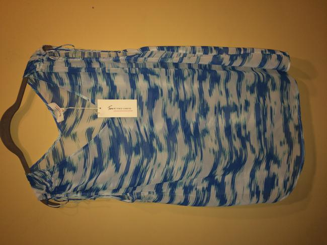 Vince Camuto Top blue and white Image 5