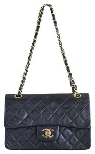Chanel Double Flap Vintage Lambskin Shoulder Bag