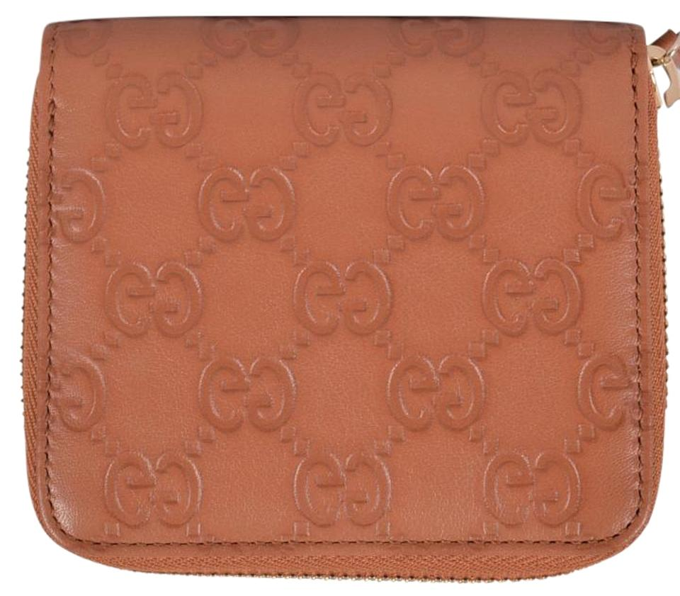 d724350662c1 Gucci Gucci Women's 346056 TAN Leather GG Guccissima French Zip Wallet  Image 0 ...