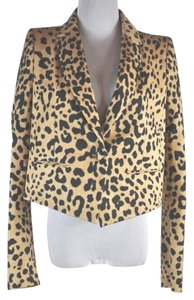 Givenchy Leopard Print Single Button Multi-color Blazer