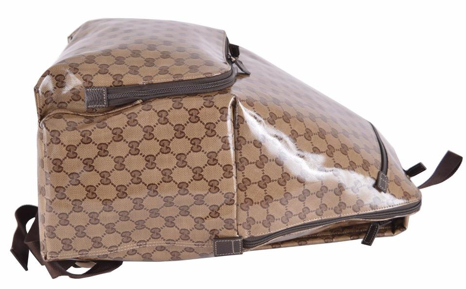 Gucci 179606 Crystal Xl Gg Guccissima Travel Purse Brown Coated Canvas  Backpack - Tradesy a7ac5136f8239
