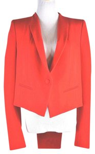 Givenchy Collarless Wool Single Button Size 38 Red Blazer - item med img