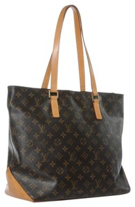 Louis Vuitton Vintage Leather Lv Tote in Brown