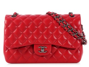 Chanel Quilted Jumbo Double Flap Shoulder Bag