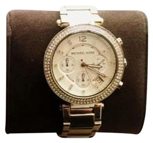 Michael Kors SALE!!! Michael Kors Parker Pave Gold Tone Watch