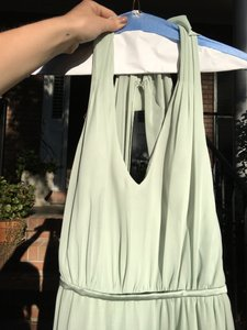 Alfred Angelo Light Green 7333l Bridesmaid Dress