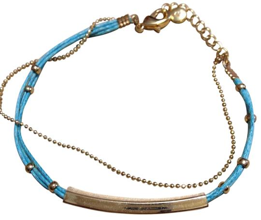 Preload https://img-static.tradesy.com/item/19749104/lc-lauren-conrad-blue-and-gold-bracelet-0-1-540-540.jpg