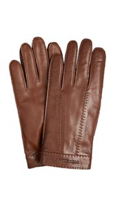 Burberry Burberry Men's Cashmere Lined Leather Touch Screen Gloves Size 9