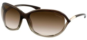 Tom Ford Tom Ford TF8 Signature Jennifer Model Brown Oversized Sunglasses