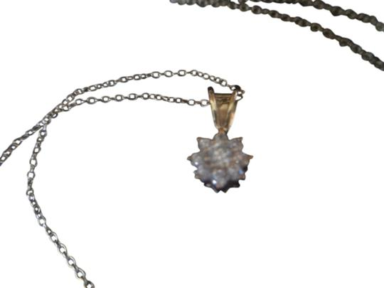 Preload https://item1.tradesy.com/images/clear-starburst-zirconia-gold-over-sterling-silver-pendant-18-fine-link-chain-nwot-necklace-1974920-0-0.jpg?width=440&height=440