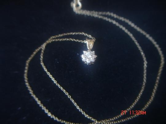 Unknown STARBURST ZIRCONIA GOLD OVER STERLING SILVER PENDANT 18