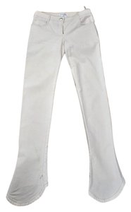 Chanel Cc Denim Skinny Pants Ivory