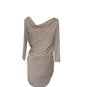 Theory Draped Neck Fitted Body Con Dress