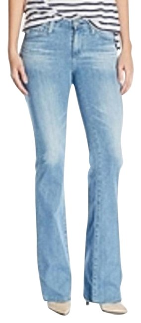 Preload https://img-static.tradesy.com/item/19749233/ag-adriano-goldschmied-blue-medium-wash-angel-30r-flare-leg-jeans-size-30-6-m-0-1-650-650.jpg