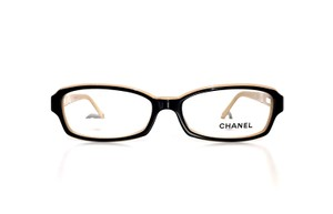 Chanel CH 3158 1133 (color) BLACK and BEIGE- Classic Chanel Optical Glasses -FREE 3 Day Shipping -