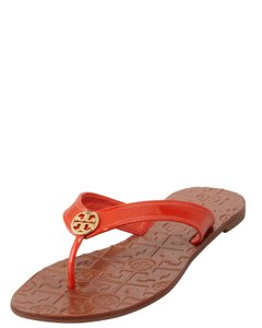 Tory Burch Flip Flop Orange and Tan Sandals