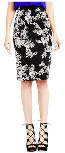 Vince Camuto Foliage Scuba Pencil Skirt Rich Black