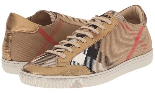 Item - Hertiage Gold/ House Check Women's New Hartfield Lace-up Low Top Tan Plaid Sneakers Size US 9 Regular (M, B)