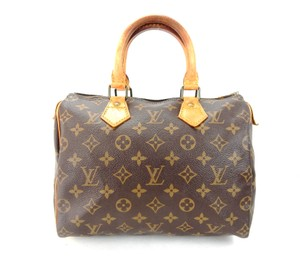 Louis Vuitton Speedy Monogram Satchel in Brown