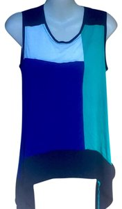 BCBGMAXAZRIA Top Blue Green White