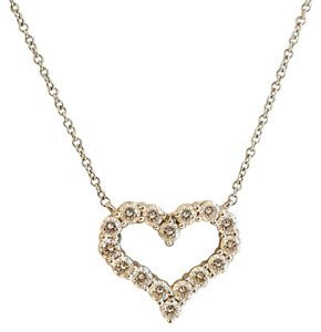 Tiffany & Co. 0.54 ct Platinum Round Cut Diamond Heart Pendant