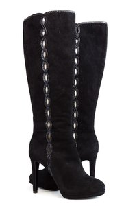 Elie Tahari Suede Boot Knee High Black Boots