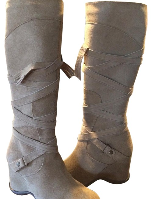 Matisse Taupe Strap/Fringe Boots/Booties Size US 8 Regular (M, B) Matisse Taupe Strap/Fringe Boots/Booties Size US 8 Regular (M, B) Image 1