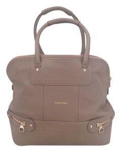 See by Chloé Leather Chloe Tote in Beige