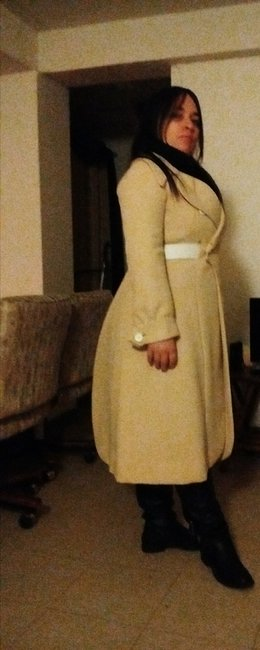 Helft's Beverly Hills Vintage Coat With Matching Dress Trench Coat Image 8