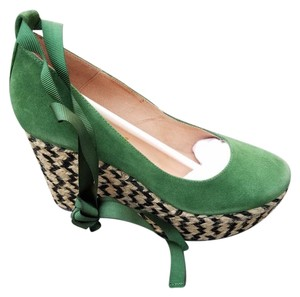 Free People Green Wedges
