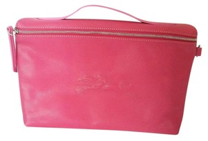 Longchamp LONGCHAMP Ipad Case Tech Cover Pink France Leather With Dustbag NEW